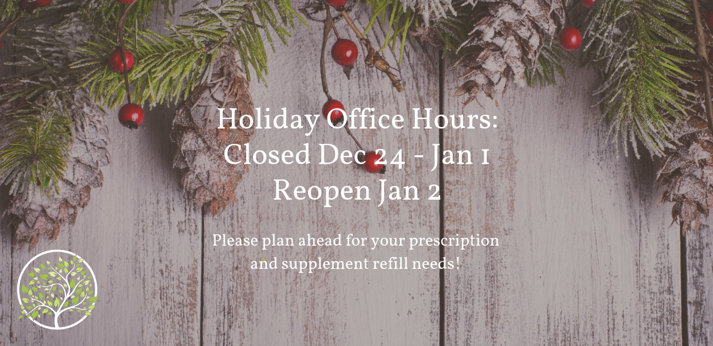 Our office will be closed Dec 24 through Jan 1